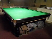 Full size 12 ft x 6 ft snooker table