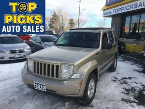 2010 Jeep Liberty NORTH EDITION, SKY VIEW ROOF, ALLOY WHEELS, 4X
