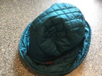 ORIGINAL BARBOUR ladies quilted hat turquoise colour. IMMACULATE CLEAN CONDITION. NOW REDUCED.