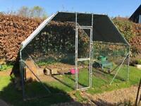 Chicken / Dog Run, 2m x 3m, Sturdy, Galvanised Steel & Wire Mesh