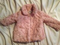Girls faux fur jacket pink