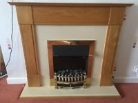 lectric fire and surround, with removable coal, excellent condition