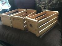 Wooden CD Racks (x3)