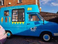 Hard scoop ice cream van