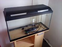 100 litre fish tank with stand and accessories.