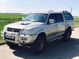 MITSUBISHI L200 'WARRIOR' (2004 MODEL) 'DOUBLE CAB PICK-UP - LWB - LEATHER - AIR CON' (NO VAT)