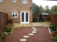 Decking, Fencing, Turfing, Paving, Easy Maintenance Landscaping, Creative Landscapers.