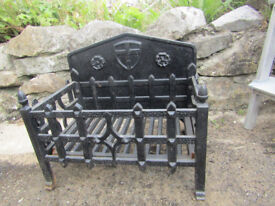Cast Iron Heavy Duty Open Fire Basket | Log Basket | Fire Grate | Dog Grate