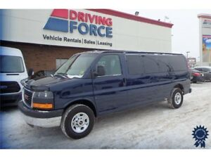 Blue 2015 GMC Savana 15 Passenger LT, Steel Wheels, 50,407 KMs