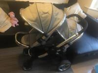 iCandy peach double stroller pushchair