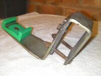 Bulldog 2000 Caravan stabiliser bar securing bracket, Plus tow bar override/safety plate