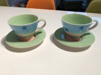 Whittards tea cups and saucers