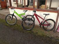 Two mountain bikes for sale £350 ono