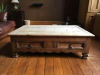 Wooden Tequila Antique Table