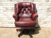 Ox Blood Directors Swivel Large chair (Delivery)