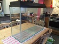 130 litre Tall Tank with hood & lighting + Filter + Heater + Gravel