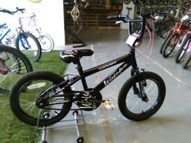 GIRLS CONCEPT WICKED BMX BIKE 16 INCH WHEELS BLACK/WHITE/PINK GOOD CONDITION
