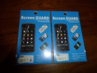 2 x brand new small phone screen protectors