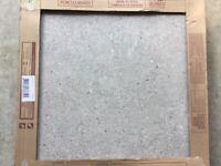 Porcelanosa Prada Asero grey designer tiles x3. Grey pattern. 60 x 60 cm. NEW.