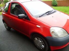 2002 Toyota Yaris 1.0 GS, Low Millage, Excellent condition