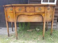 Georgian solid mahogany bowfronted sideboard
