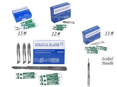 1 Pcs Scalpel Handle100 Pcs Dental Surgical Sterile Scalpel Blades 101115