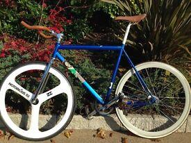 Custom built fixed gear bike