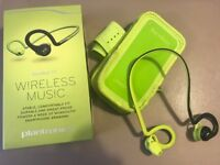 Used and broken Plantronics BackBeat FIT Wireless Stereo Headphones