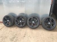 BMW 5 SERIES F10/11 M DOUBLE SPOKE 351 BLACK ALLOYS SET