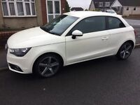 White Audi a1 red and black leather upgraded wheels