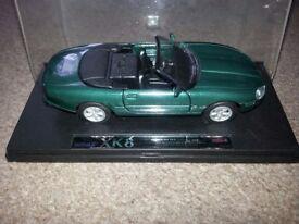 green Jaguar XK8