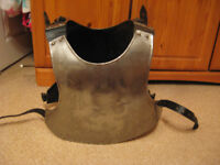 Steel breast plate for historical re enactments larp