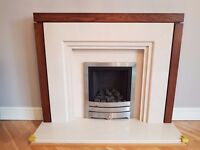 Marble - Timber Fireplace Surround