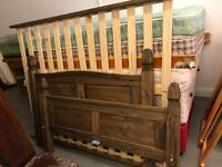 Double bed frame £90 with mattress £130