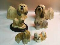 Lhasa Apso dog figurines