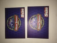 2x Alton Towers Tickets 19th May 19/05/17