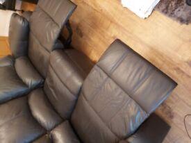 Free three seater leather sofa,
