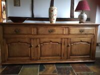 Solid English Oak Sideboard