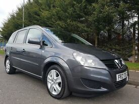 2012 VAUXHALL ZAFIRA EXCLUSIV 1.7 CDTI 6SPEED TECHNICAL GREY LOW MILEAGE 47K FULL SERVICE HISTORY !!