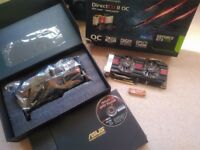 ASUS Geforce GTX 770 2GB GDDR5 memory DirectCU 2 OC graphics cards x2 SLI ready