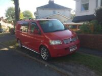 "VW T5 ""Raceline"" Customvanz Hybrid Camper/Day Van - fun, eye-catching, practical, reliable, loved."
