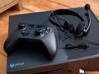 XBox One with wireless controller, headset and 2 games