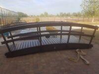 4mtr Garden Bridge, Brazillian Cedar/Cedrela, ideal for large ponds!