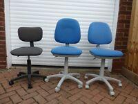 Three swivel office chairs £5 each