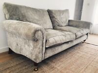 Laura Ashley Large Kingston Caitlyn Silver Sofa
