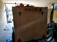 4ft by 6ft galvanised steel box trailer