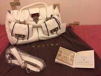 ***Brand New*** Luxury Ladies Celine Blossom Tote White Leather Handbag
