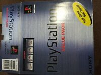 Sony PS1 + G-con45 & 4 games all boxed