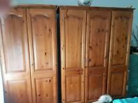 Backstreet Pine 3 door & 2door solid pine wardrobes