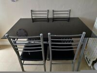 Black Gloss Dinning Table